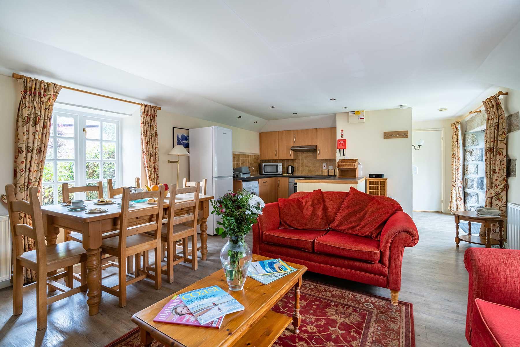 Badger Holiday Cottage Living Area