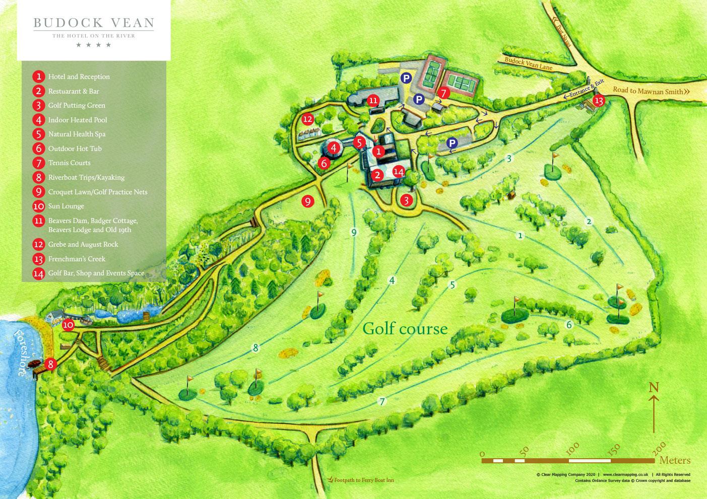 Budock Vean Hotel Corwnall | Estate Map